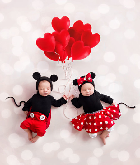 Sesion Fotos San Valentin Bebes Minnie Mickey 2