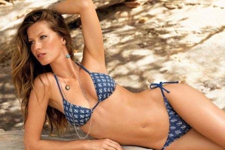 Catálogo de baño de Calzedonia con Gisele Bundchen Verano 2010: dominan los bikinis