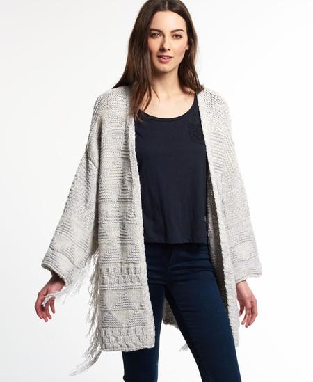 Kimono con flecos Top Nomad de Superdry para mujer Ecru Twist por 29,45 euros y envío gratis en eBay