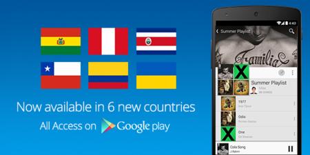 Google Play Music All Access llega a 6 países más