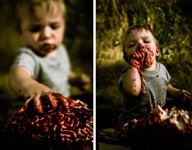 """El bebé que en su primer cumpleaños se transformó en un """"zombie"""""""