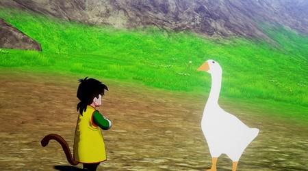 Dragon Ball Z: Kakarot comienza a recibir sus primeros mods y ya podemos sustituir a Goku por el ganso de Untitled Goose Game