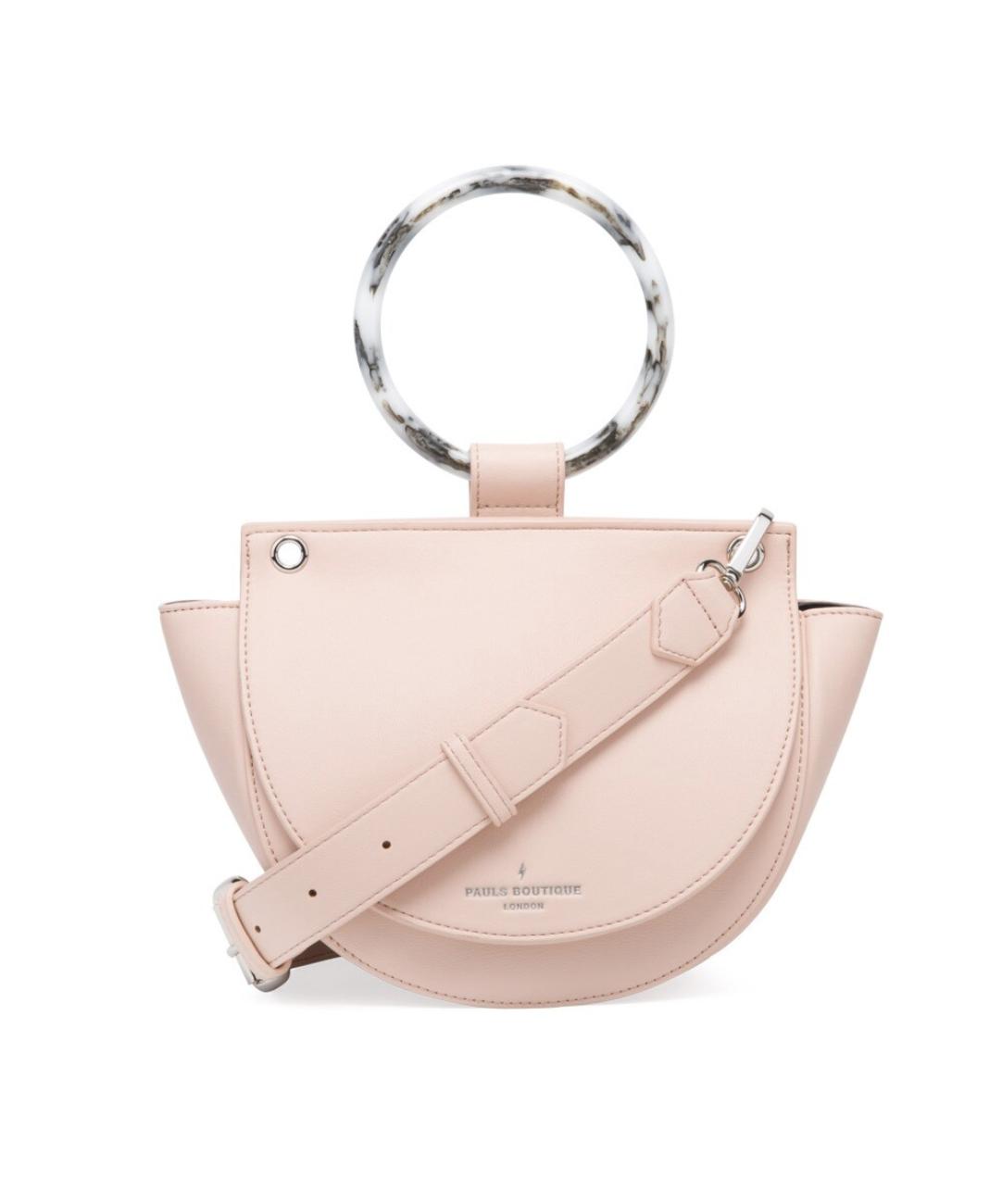 Bolso de mano Paul's Boutique en rosa con solapa