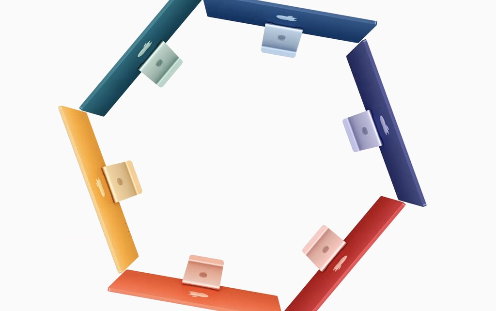 Estos son los escritorios a juego con los nuevos iMac con M1, para gustos los colores