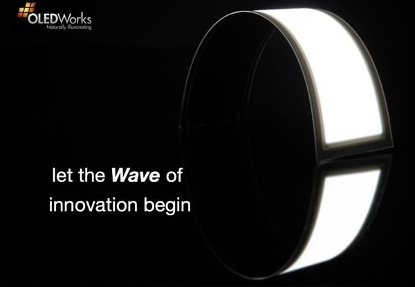 OLEDWorks lanza su primera gama de paneles curvos OLED para iluminación, los LumiCurve Wave