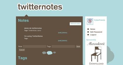 Twitternotes, añadiendo nuestras notas en Twitter