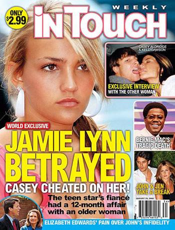 Jamie Lynn Spears cornuda y traicionada