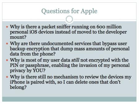 Apple insiste tras nuevas acusaciones: No, no hay puertas traseras en iOS