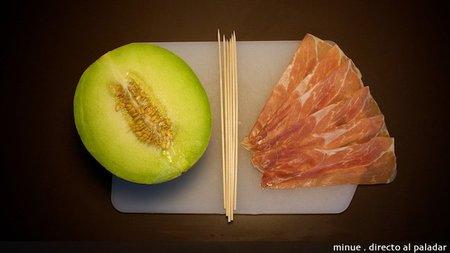 melón con jamón - ingredientes