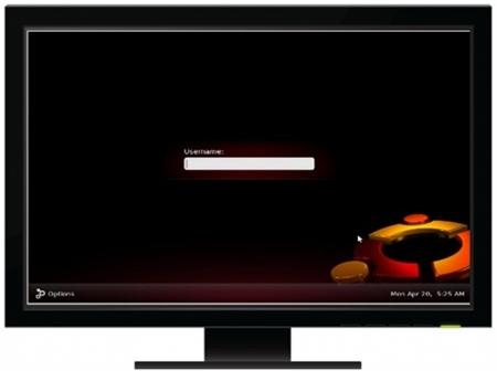 Ubuntu 9.04 Jaunty Jackalope - Inicio de sesión