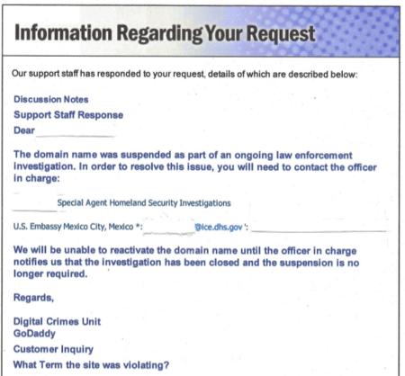 GoDaddy.com y la embajada de EUA censuran sitio de protesta 1dmx.org