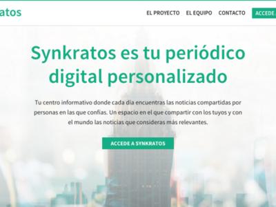 Synkratos, un agregador de noticias que también te deja escribirlas