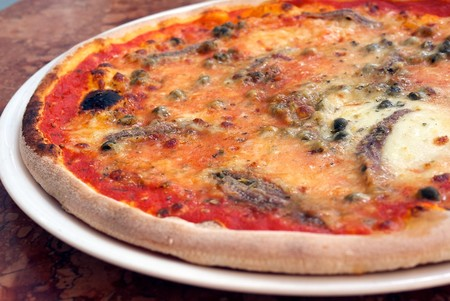 Alcaparra en la Pizza