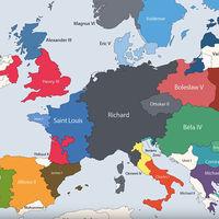 Todos los gobernantes de la historia de Europa, resumidos en este fantástico vídeo-mapa