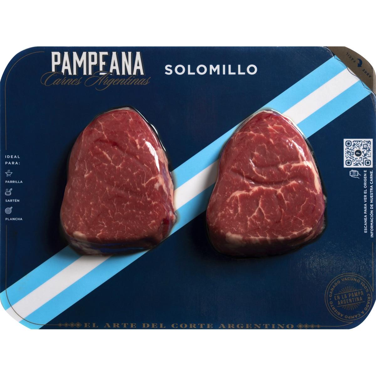 PAMPEANA Novillo argentino solomillo peso aproximado bandeja 280 g