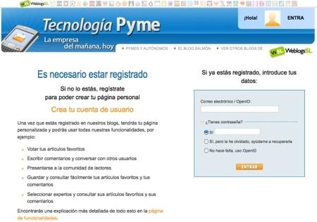 El registro en Tecnología Pyme mucho más fácil
