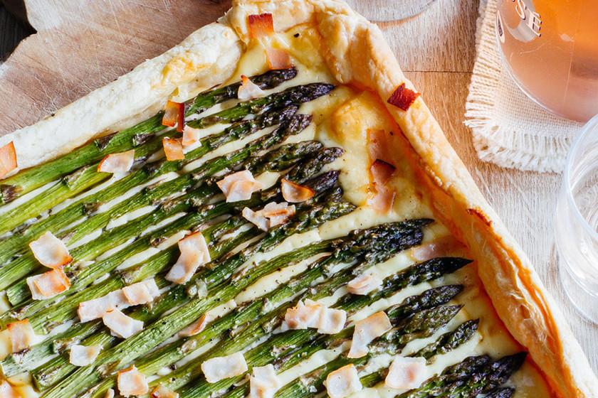 Tarta de espárragos y queso: receta para el Día de la Madre