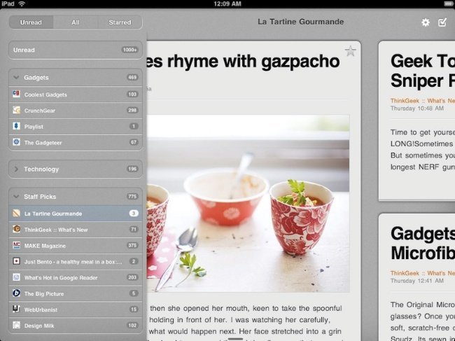 river of news rss lector noticias ipad apple