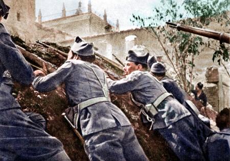 Fotografias de la guerra civil coloreadas