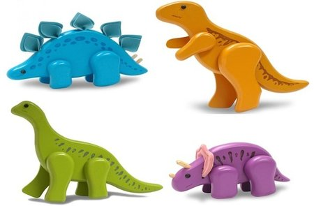 Preciosos dinosaurios de madera