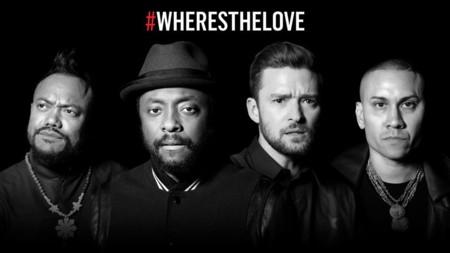 Los Black Eyed Peas reúnen a Jaden Smith, Justin Timberlake, A$AP Rocky y otras celebrities para cantad todos juntos #wheresthelove