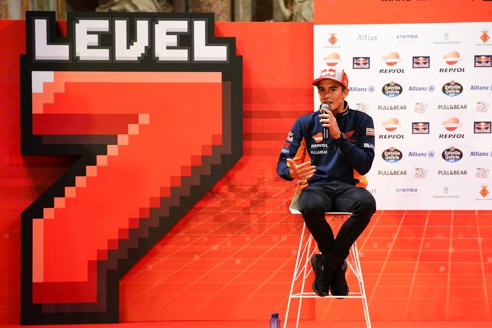 Celebración del séptimo título de Marc Márquez