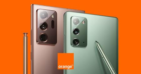 Precios Samsung Galaxy Note 20 y Note 20 Ultra con Orange: desde 39,50 euros al mes y con un pack de regalo