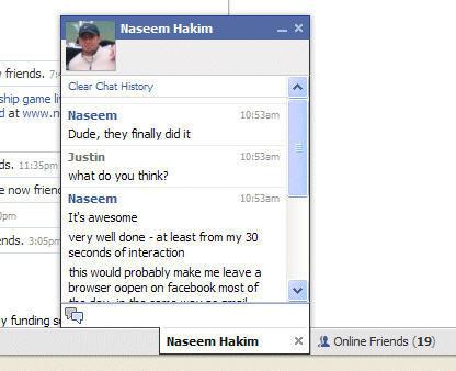 Facebook Chat, su propio sistema de mensajería instantánea