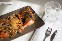 Receta de pollo al horno con aceitunas