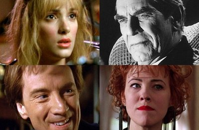 Winona Ryder, Martin Landau, Martin Short y Catherine O´Hara en 'Frankenweenie', de Tim Burton