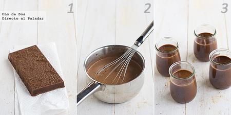 Panacotta de turrón de chocolate. Receta de aprovechamiento