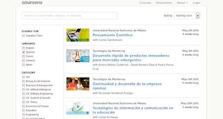 Coursera ya ofrece cursos en español y otros idiomas