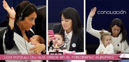 Así crece la hija de la parlamentaria europea Licia Ronzulli, que sigue conciliando en el trabajo