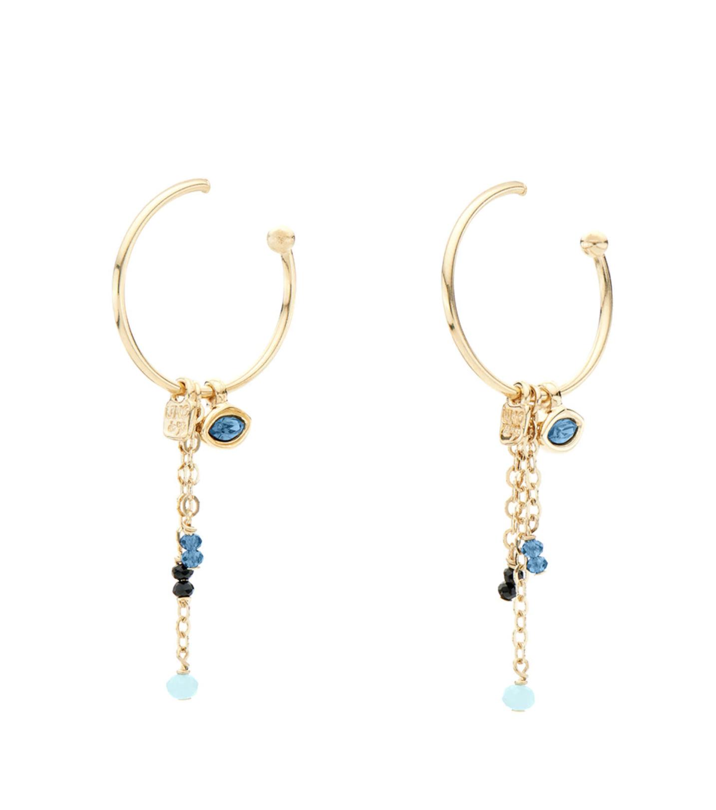 Pendientes de mujer Uno de 50 aro bañados en oro con cristales SwarovskiI® Elements