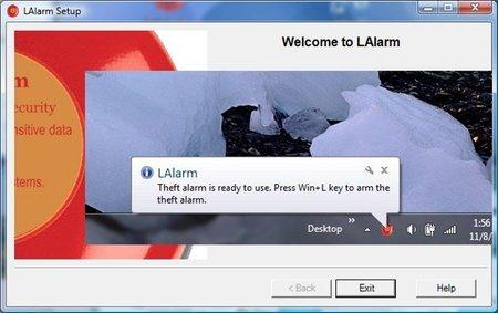 LAlarm, software de protección contra el robo de portátiles
