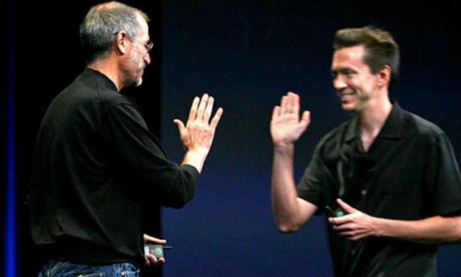 Steve Jobs y Scott Forstall