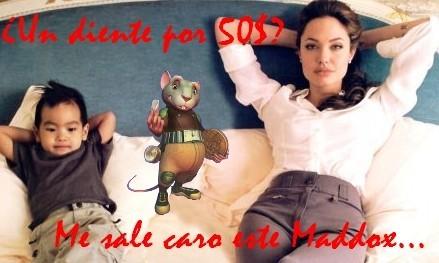 El Ratoncito Pérez deja 50$ al hijo de Angelina Jolie
