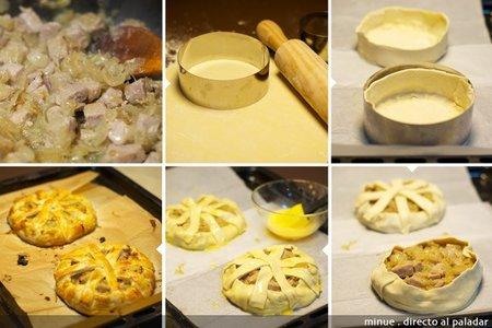 Tartaleta de atún - elaboración