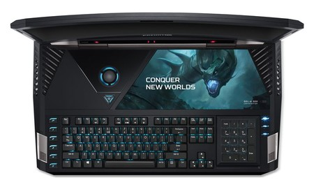Acer Predator 21 X Gx21 71 Keyboard From Above Lights On Number Pad