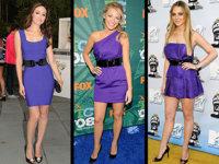 Lo que se lleva: mini vestidos color púrpura
