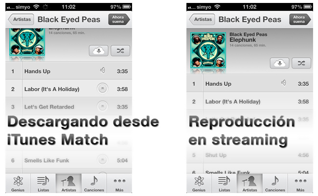 iOS 6 incluye streaming si usas iTunes Match