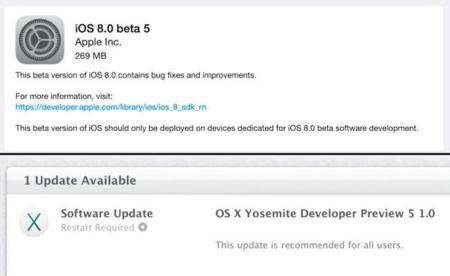 Apple lanza iOS 8 Beta 5 y OS X Yosemite Developer Preview 5