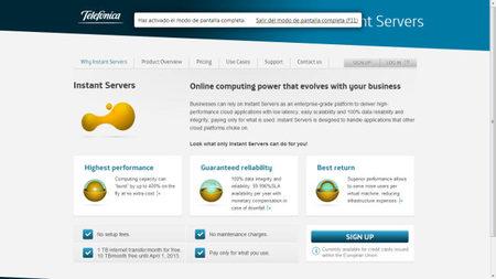 Telefónica lanza Instant Server, un servicio similar al EC2 de Amazon