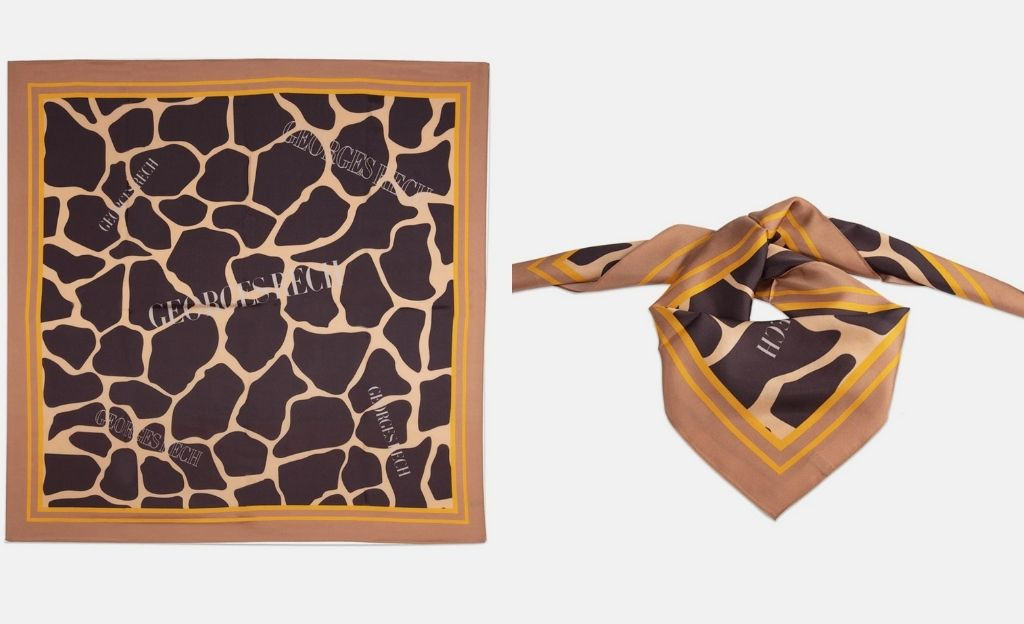 Pañuelo de seda Georges Rech con estampado animal print