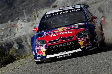 Sébastien Loeb termina líder la segunda etapa