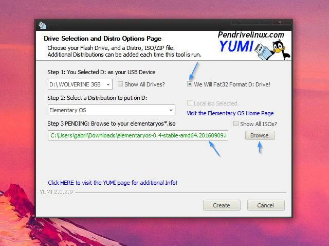 Yumi Formatear Crear