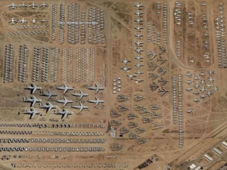 Cementerio de aviones militares en Tucson, Arizona