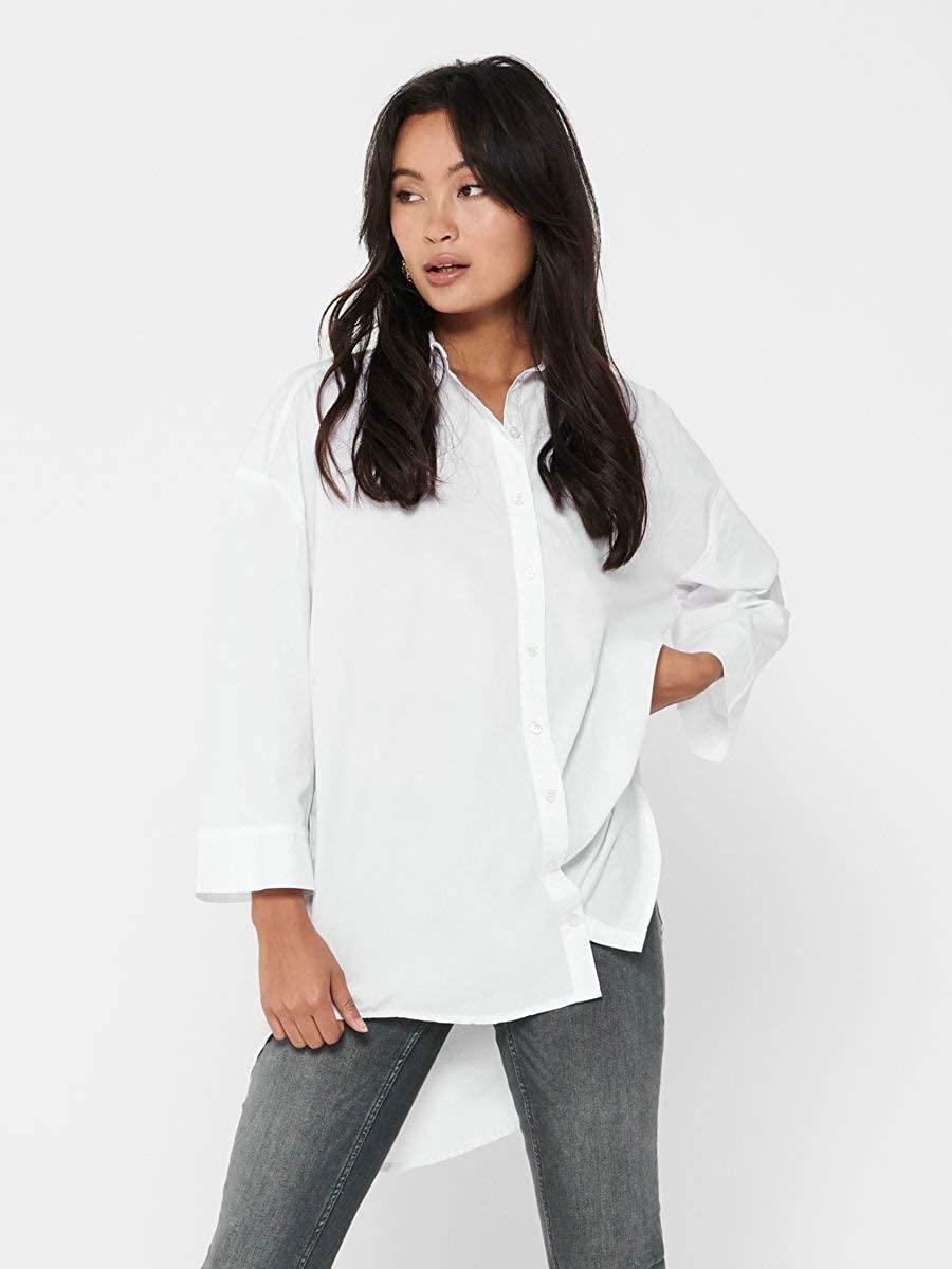 Only Onlvigga Life LS Dnm Shirt Qyt Camisa para Mujer