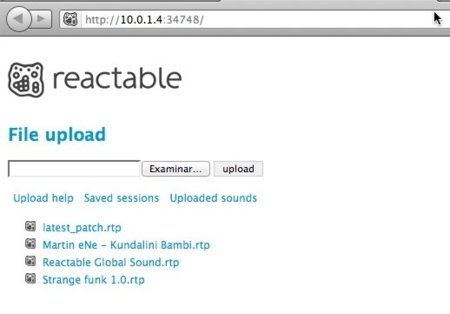 Captura del servidor web del dispositivo iOS en una ventana de Firefox en Mac