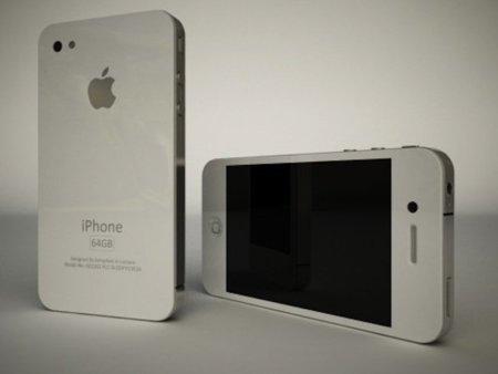 Imagen de como podría ser el nuevo iPhone pero en color blanco